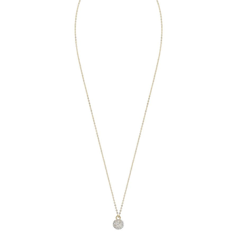 Snö Of Sweden Zin Small Pendant Neck (40 cm) ─ Gold / Clear