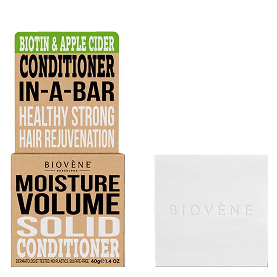 Biovène Hair Care Conditioner Bar Moisture Volume Biotin & Apple Cider 40g