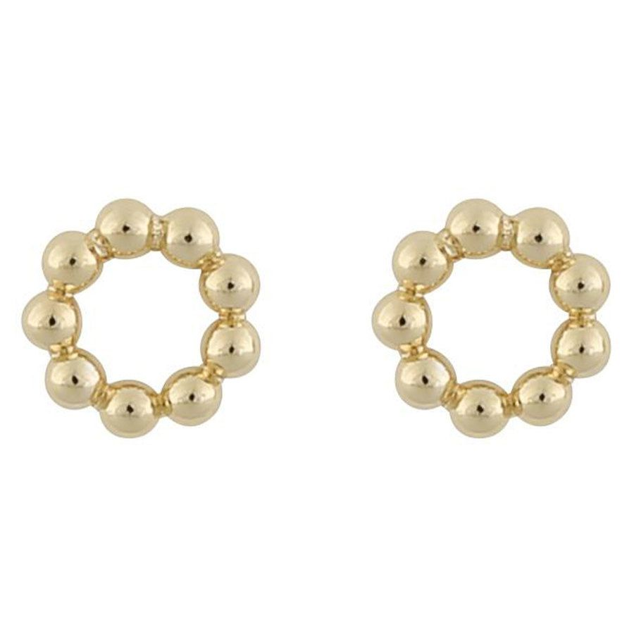 Snö Of Sweden Point Small Round Earring Plain Gold