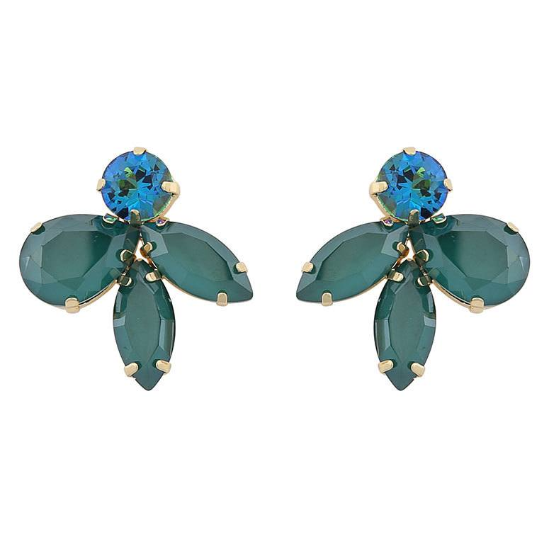 Snö Of Sweden Smith Earring Gold/Mix Green 29 mm