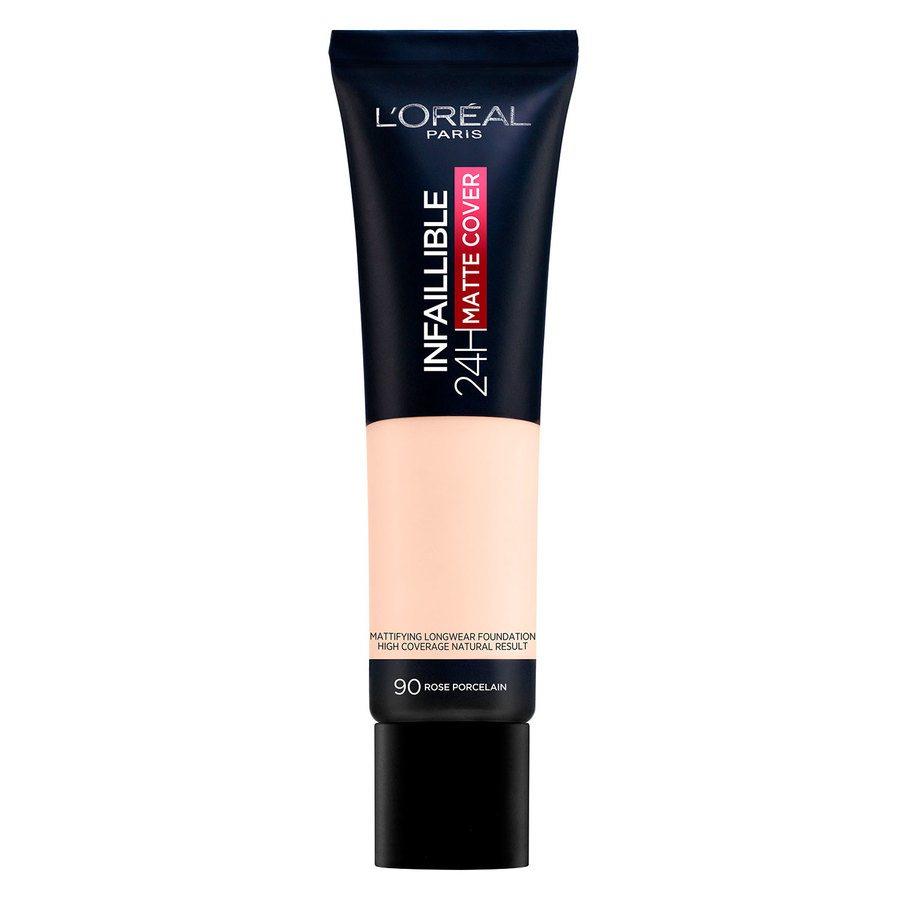 L'Oréal Paris Infaillible 24H Matte Cover 90 Rose Porcelaine (30 ml)