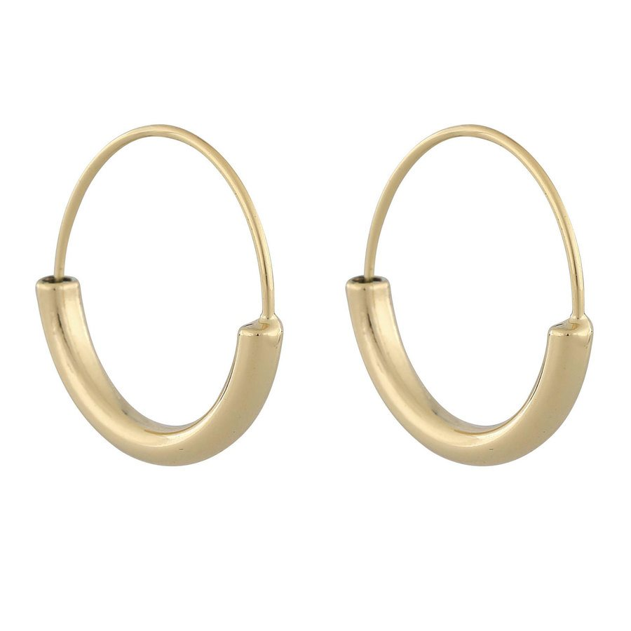 Snö Of Sweden Anglais Ring Earring Plain Gold