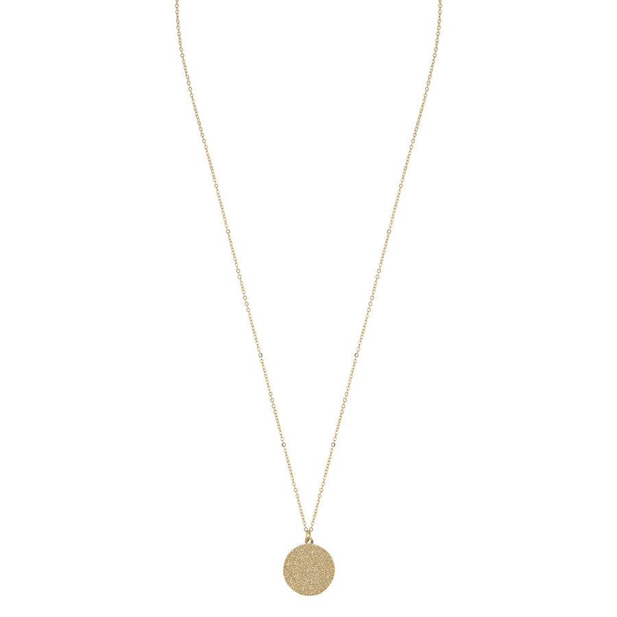 SNÖ of Sweden Penny Coin Pendant Neck Plain Gold (60 cm)