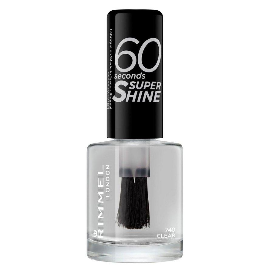Rimmel London 60 Seconds Super Shine Nail Polish (8ml), #740 Clear