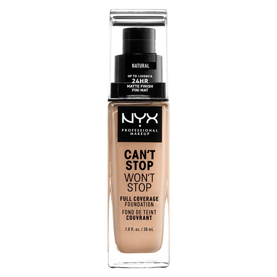 NYX Professional Makeup Can't Stop Won't Stop Full Coverage Foundation (30ml), Natural