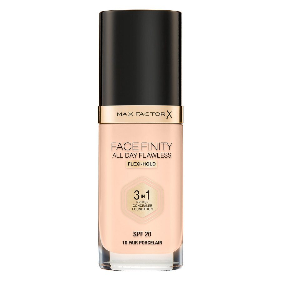 Max Factor Facefinity All Day Flawless 3-In-1 Foundation (30 ml), #10 Fair
