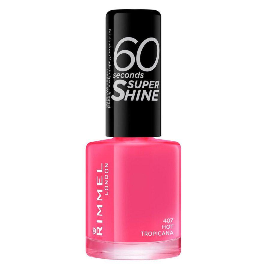 Rimmel London 60 Seconds Super Shine Nail Polish (8 ml), # 407 Hot Tropicana