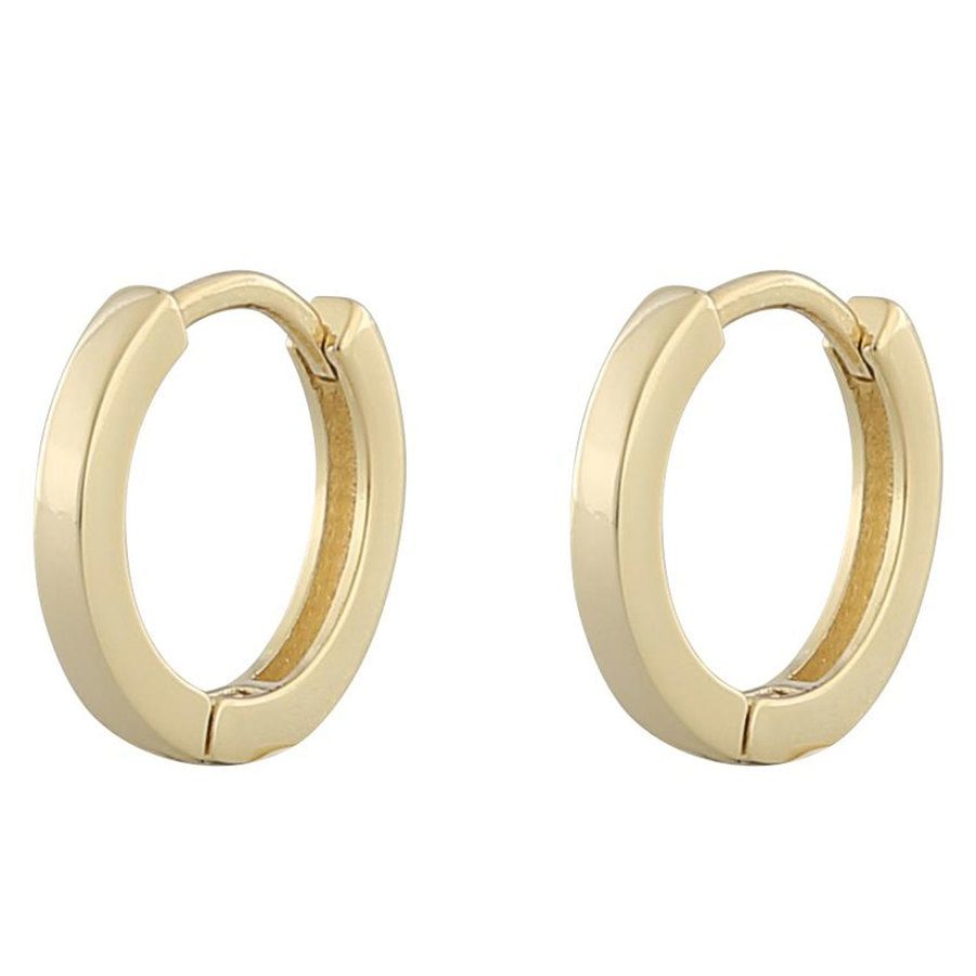 Snö Of Sweden Anchor Small Ring Earring Plain Gold