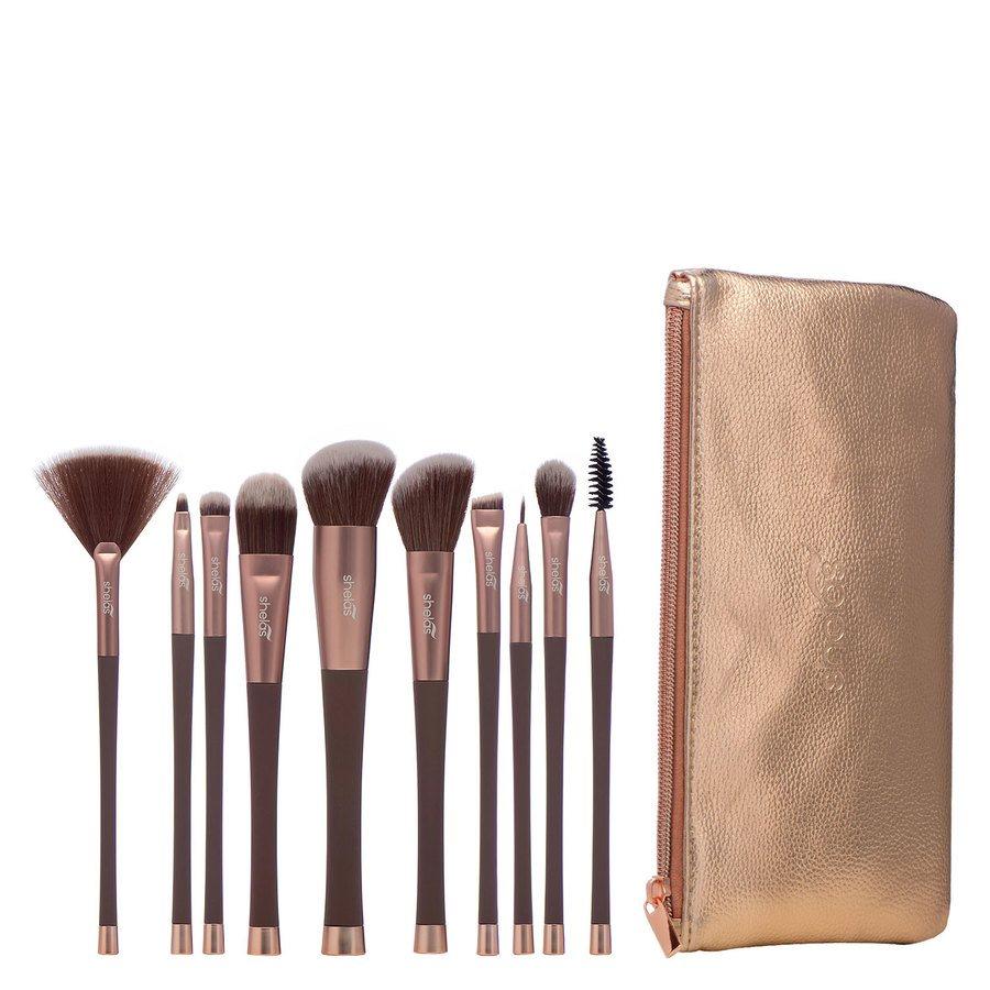 Shelas Luxury Makeup Brush Set, zestaw pędzli, 10 szt.
