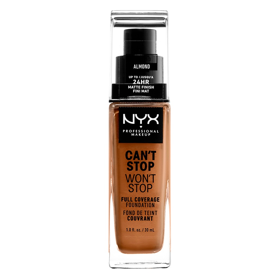 NYX Professional Makeup Can't Stop Won't Stop Full Coverage Foundation (30 ml), Almond
