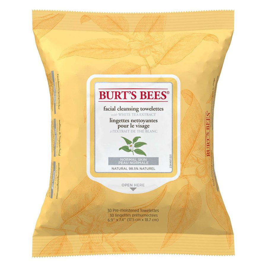 Burt`s Bees Facial Cleans Towelettes White Tea Extract (30 stk)