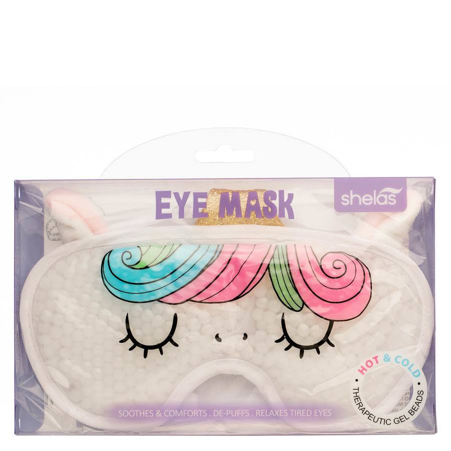 Shelas Hot / Cold Gel Beads Eye Mask Unicorn