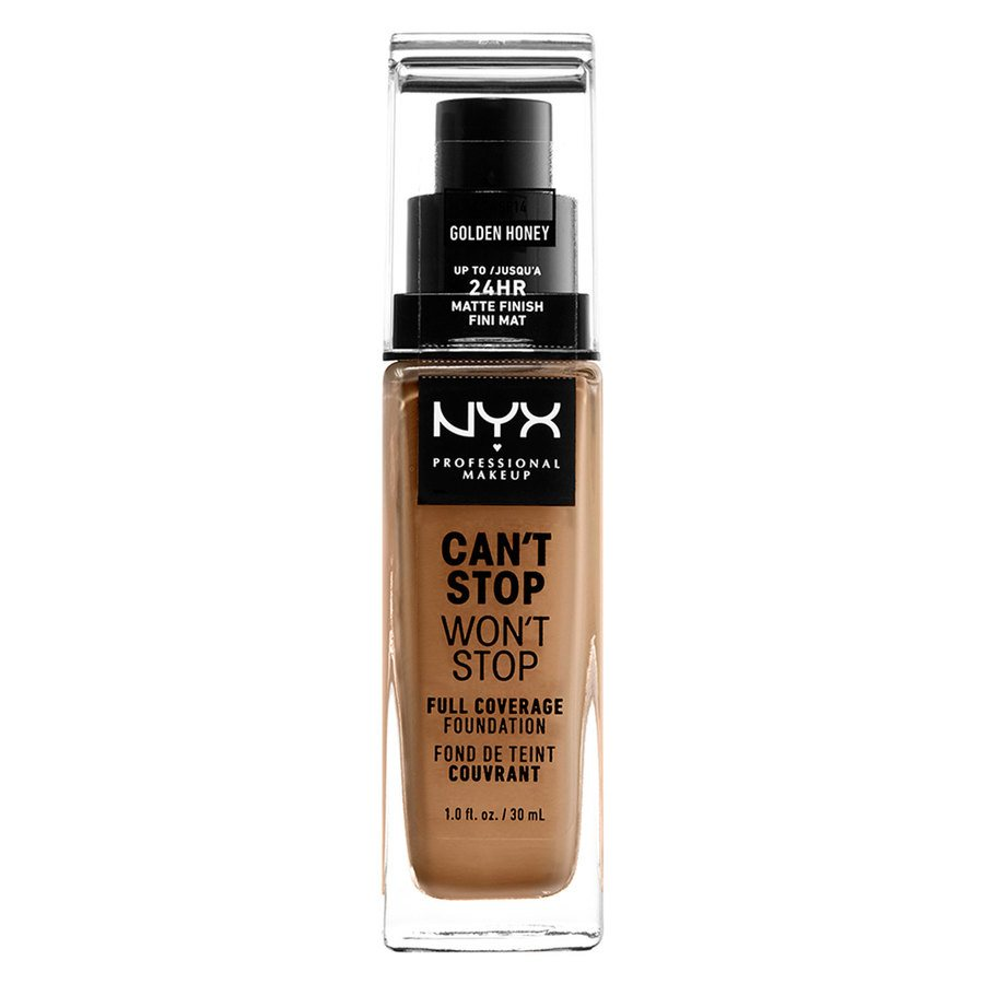 NYX Professional Makeup Can't Stop Won't Stop Full Coverage Foundation (30ml), Golden Honey