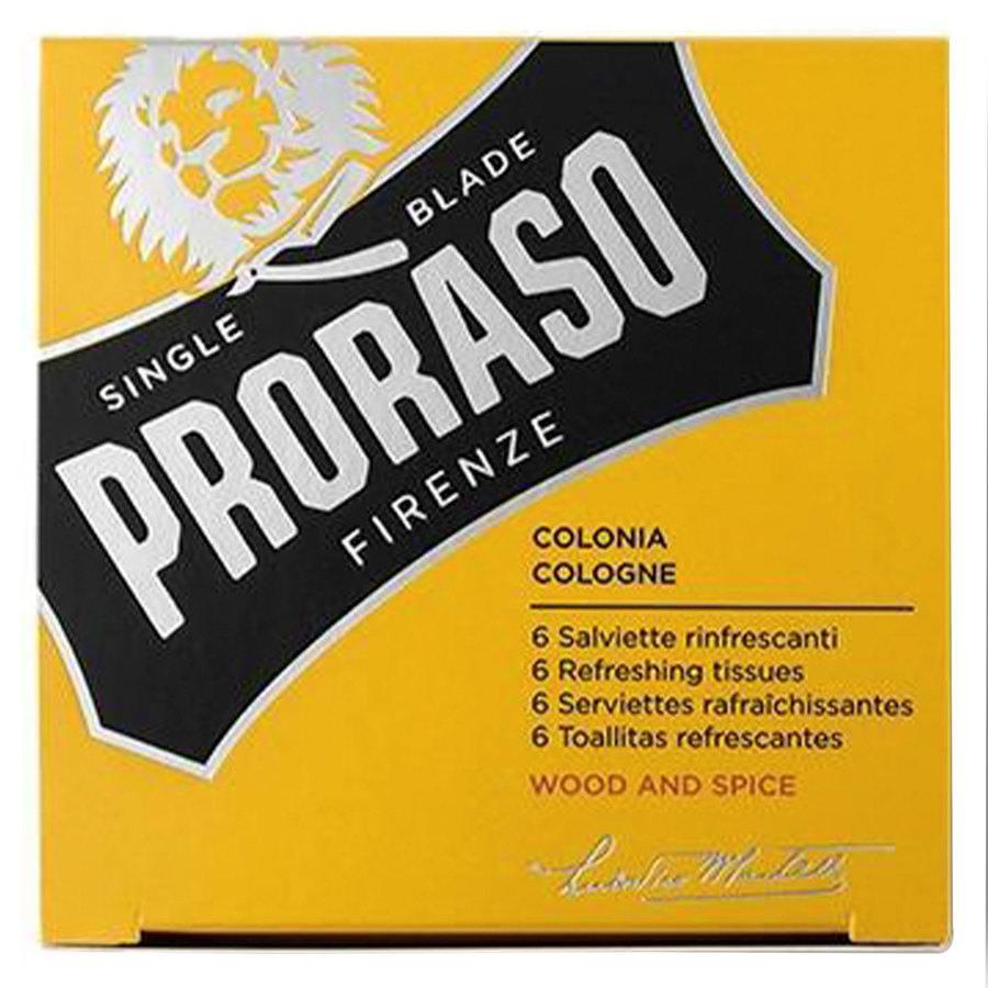 Proraso Beard Wipes Wood & Spice (6 szt)