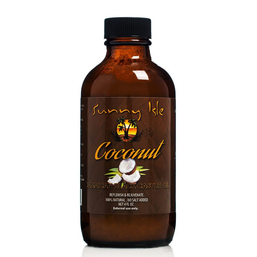 Castor Oil 118ml. Sunny Isle Coconut Jamaican Black