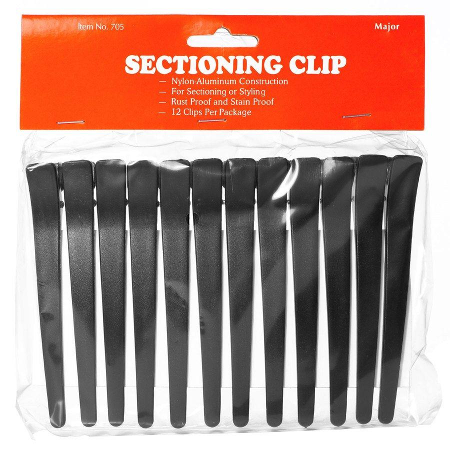 Akcesoria do włosów Sectioning Hair Clips 12 szt. – Black
