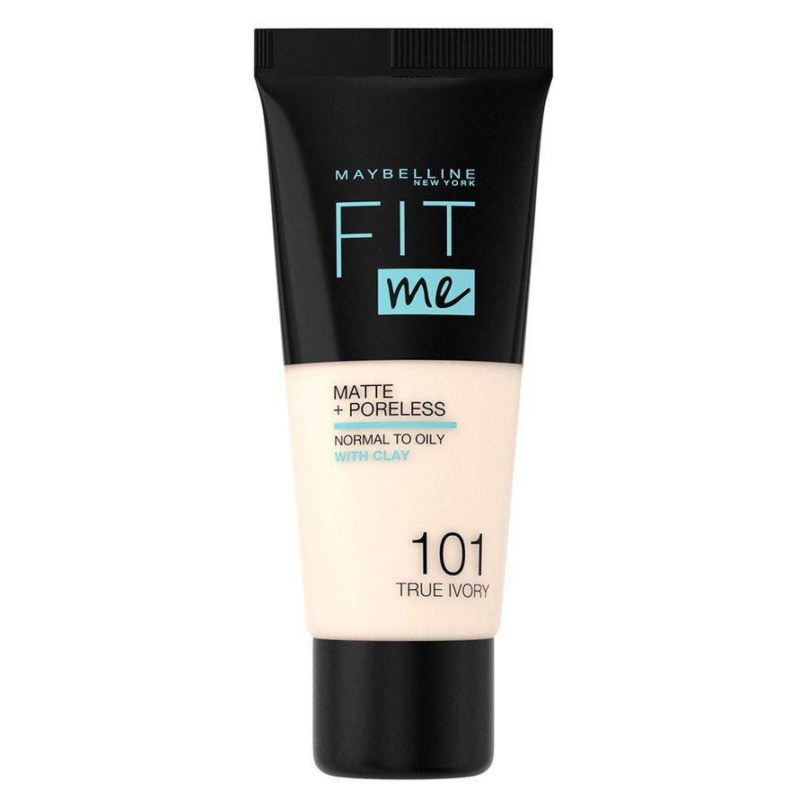 Maybelline Fit Me Matte + Poreless Foundation, True Ivory #101 (30 ml)