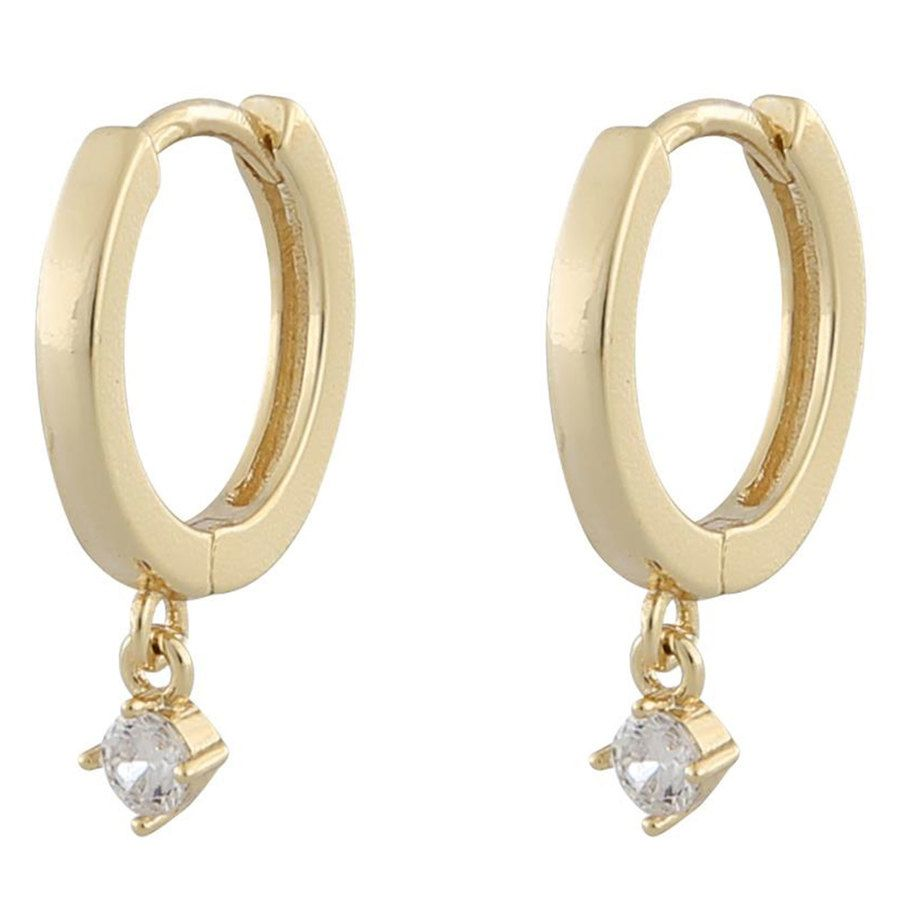 Snö Of Sweden Camille Small Ring Earring Gold / Clear