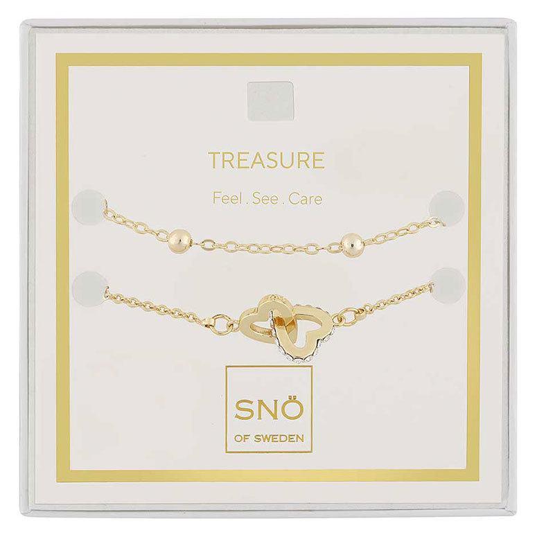 Snö Of Sweden Valentine Treasure Bracelet Set Gold / Clear