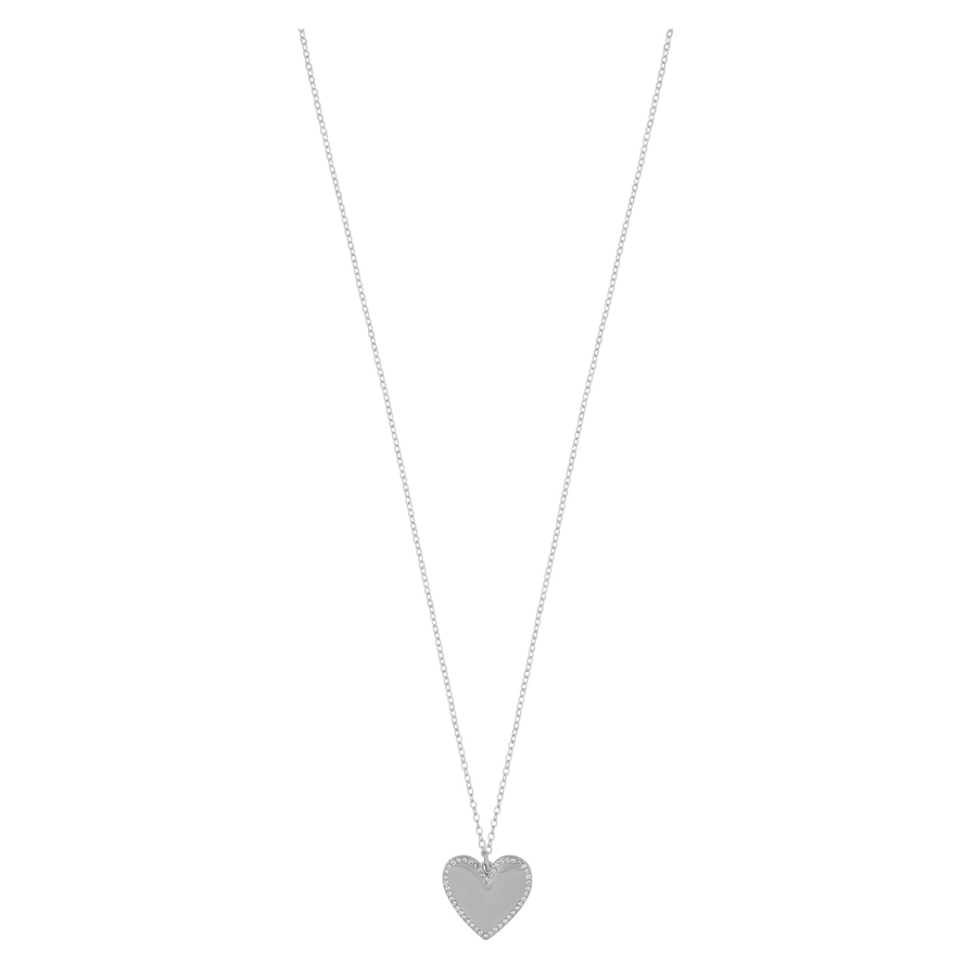 Snö of Sweden Mii Stone Pendant Necklace, Silver/Clear (42 cm)