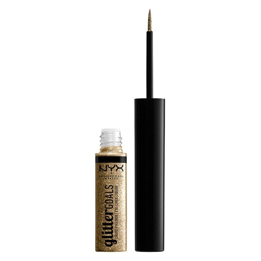 NYX Professional Makeup Glitter Goals Liquid Eyeliner (4ml), Golden