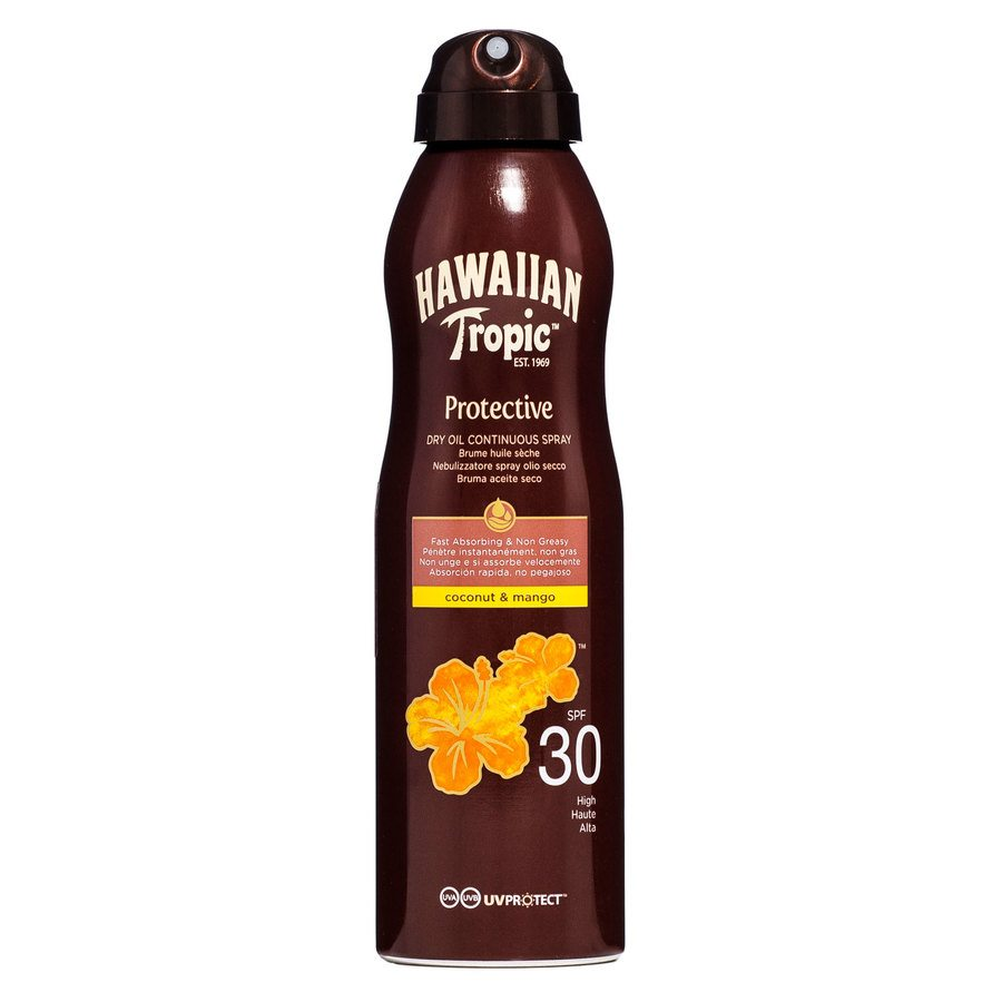 Hawaiian Tropic Protective Dry Oil Continuous Spray SPF 30 (180 ml)