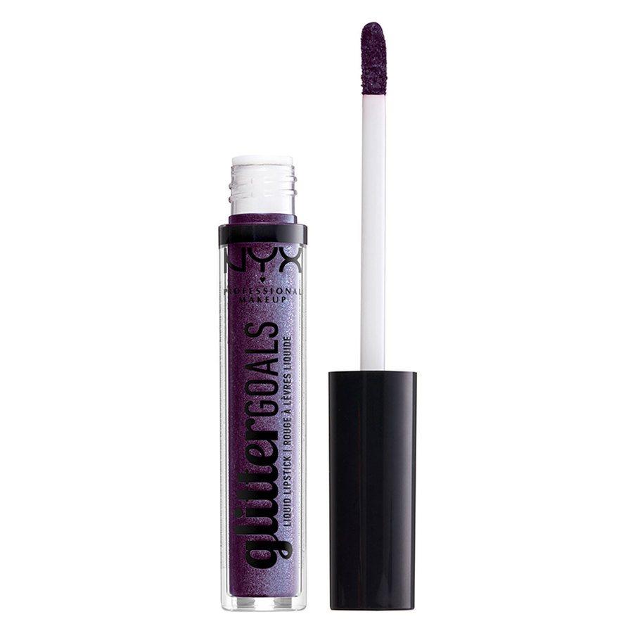 NYX Professional Makeup Glitter Goals Liquid Lipstick 07 Amethyst Vibes (3 ml)