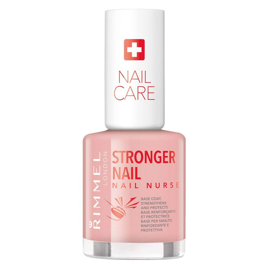 Rimmel Stronger Nail Nurse Base Coat Nail Polish (12 ml), Transparent