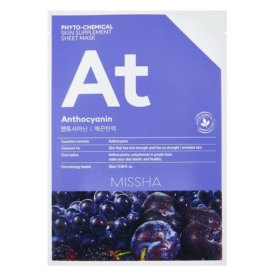Missha Phytochemical Skin Supplement Sheet Mask Anthocyanin (25 ml)
