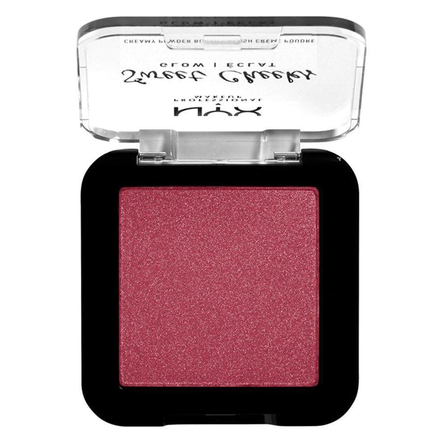 NYX Professional Makeup Sweet Cheeks Creamy Powder Blush Glow (5g), Risky Business