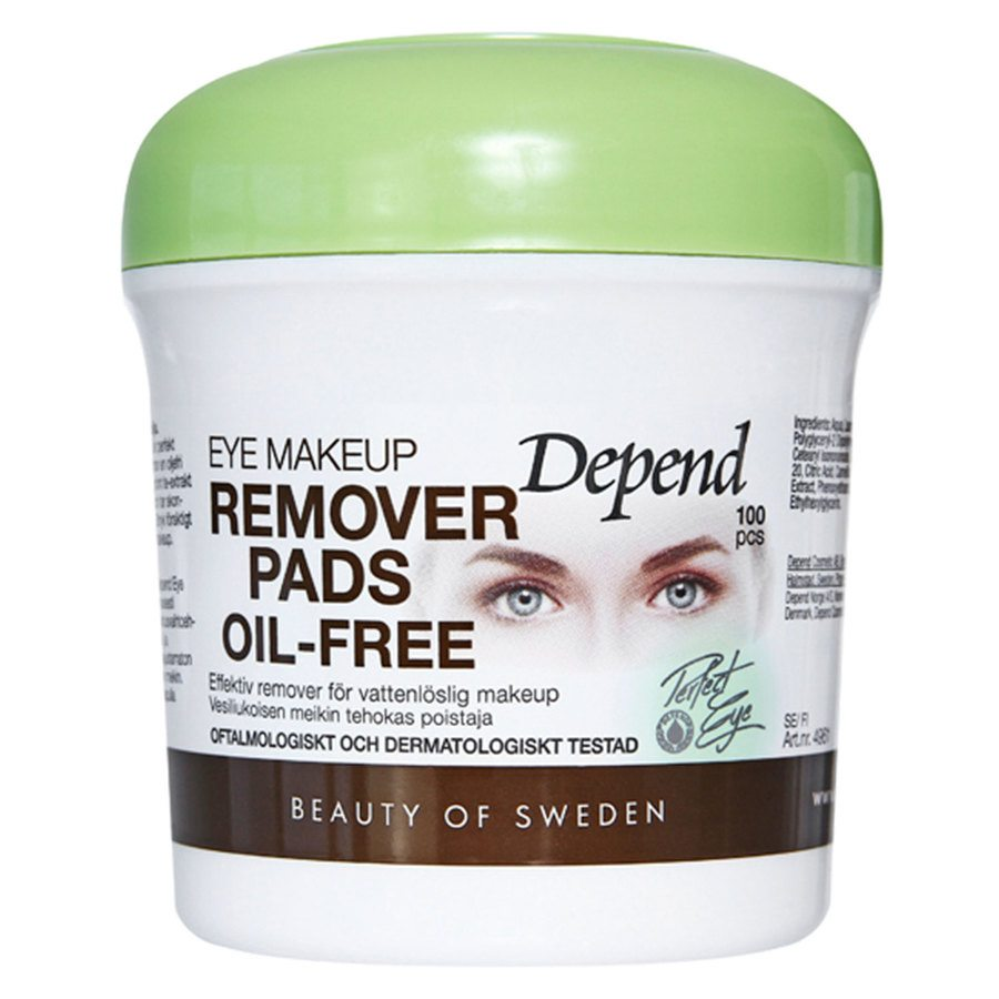Depend Eye Makeup Remover Pads Oil-Free (100 szt.)