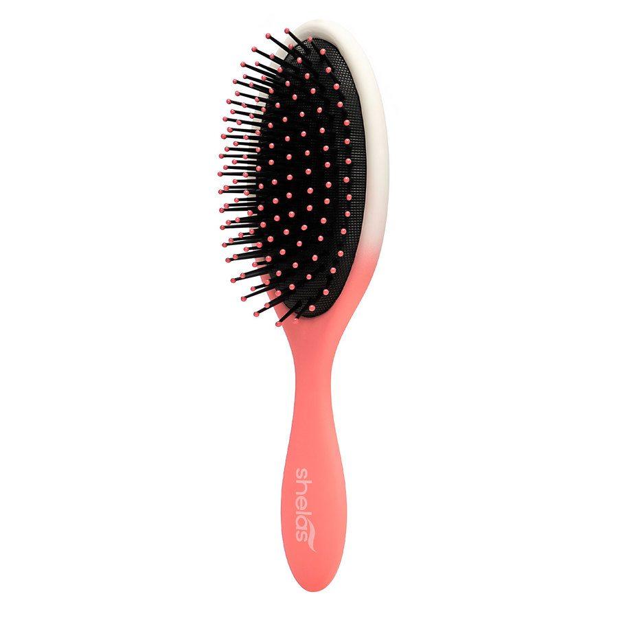 Shelas Paddle Hair Brush Pink / White