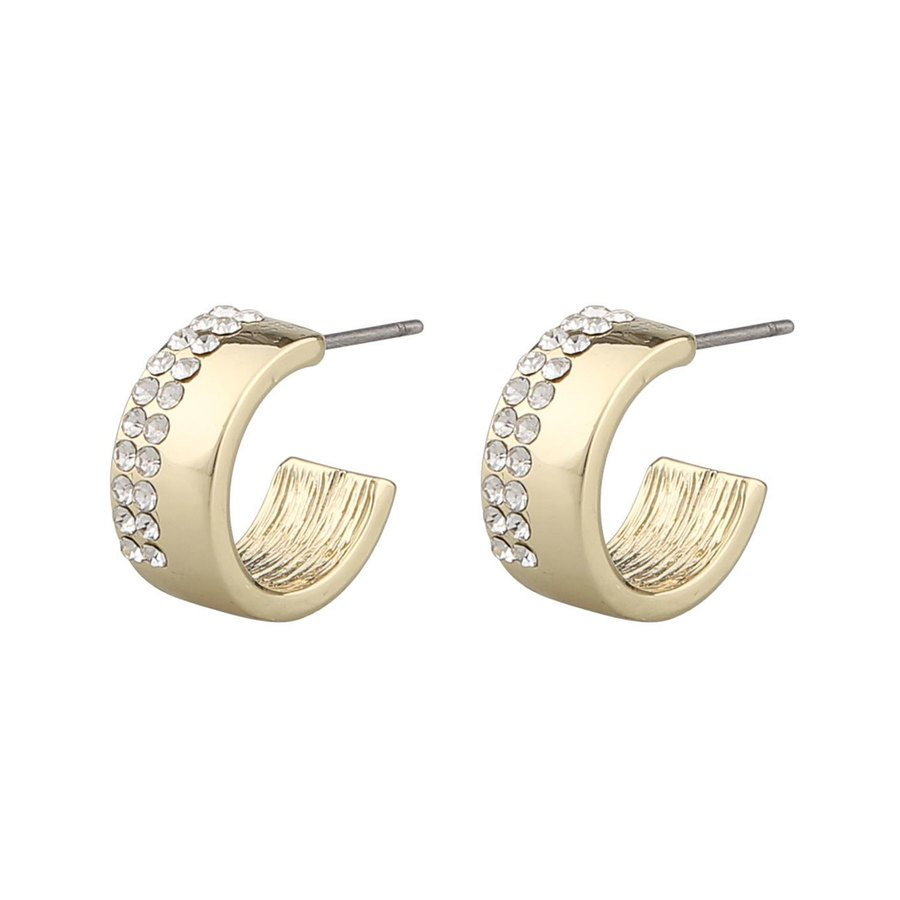 Snö Of Sweden Marseille Small Oval Earring Gold / Clear