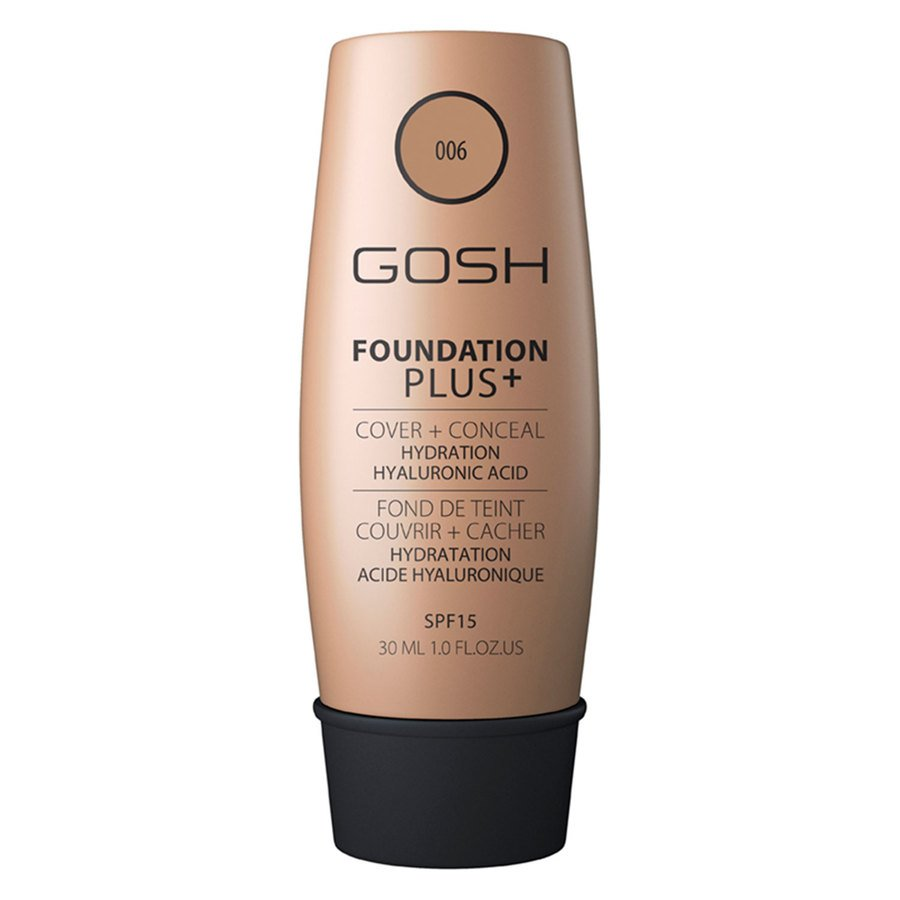 GOSH Foundation Plus+ (30 ml), #006 Honey
