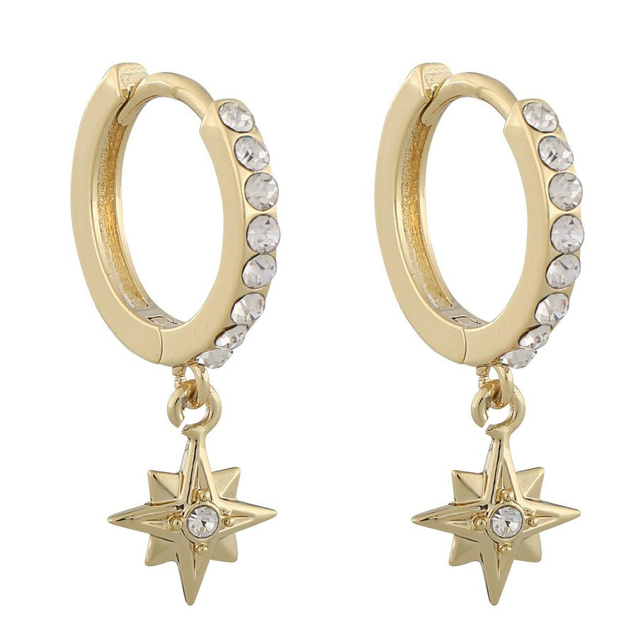 Snö Of Sweden Feliz Ring Stone Earring Gold / Clear