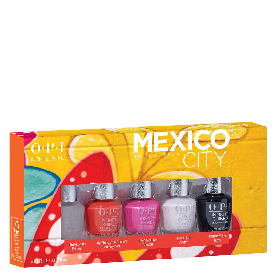 OPI Mexico City Infinite Shine Mini 5szt. (5 x 3,75 ml)