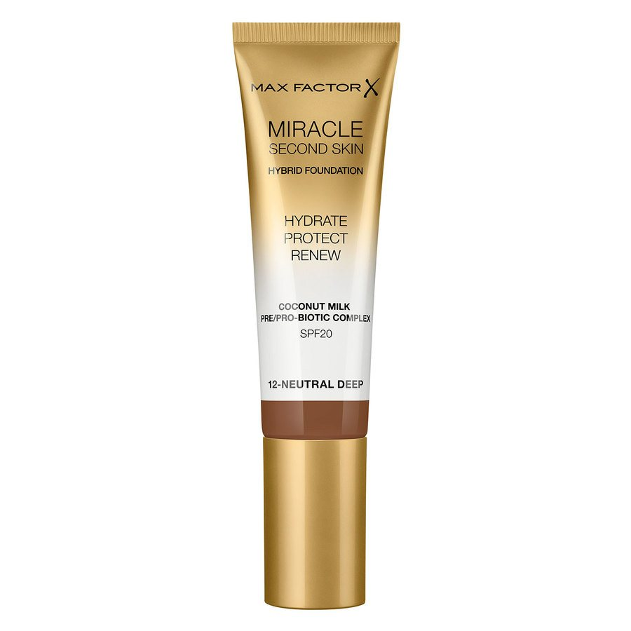 Max Factor Miracle Second Skin Foundation - #012 Neutral Deep (33 ml)