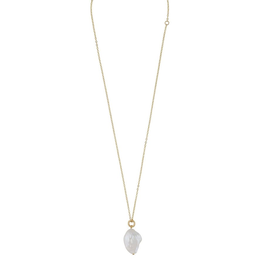 Snö Of Sweden Maxime Pendant Necklace Gold/White, 48 cm