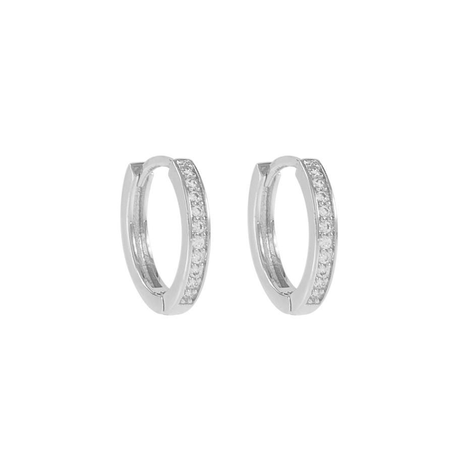 Snö of Sweden – Elaine small ring ear, s/clear (14 mm)