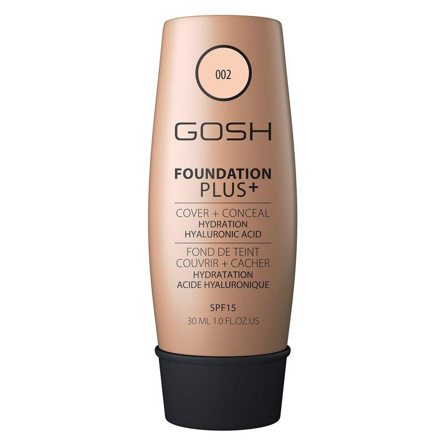 GOSH Foundation Plus+ (30ml), #002 Ivory