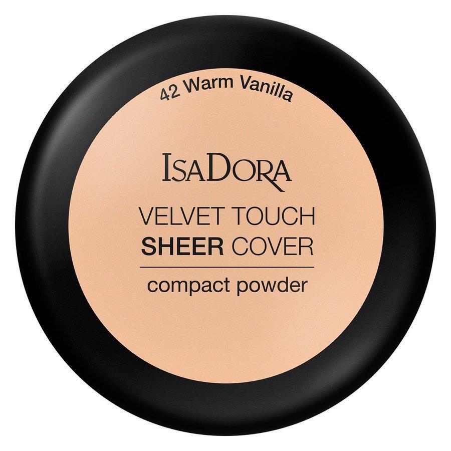 IsaDora Velvet Touch Sheer Cover Compact Powder (7.5 g), 42 Warm Vanilla