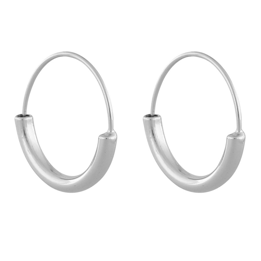 Snö Of Sweden Anglais Ring Earring Plain Silver