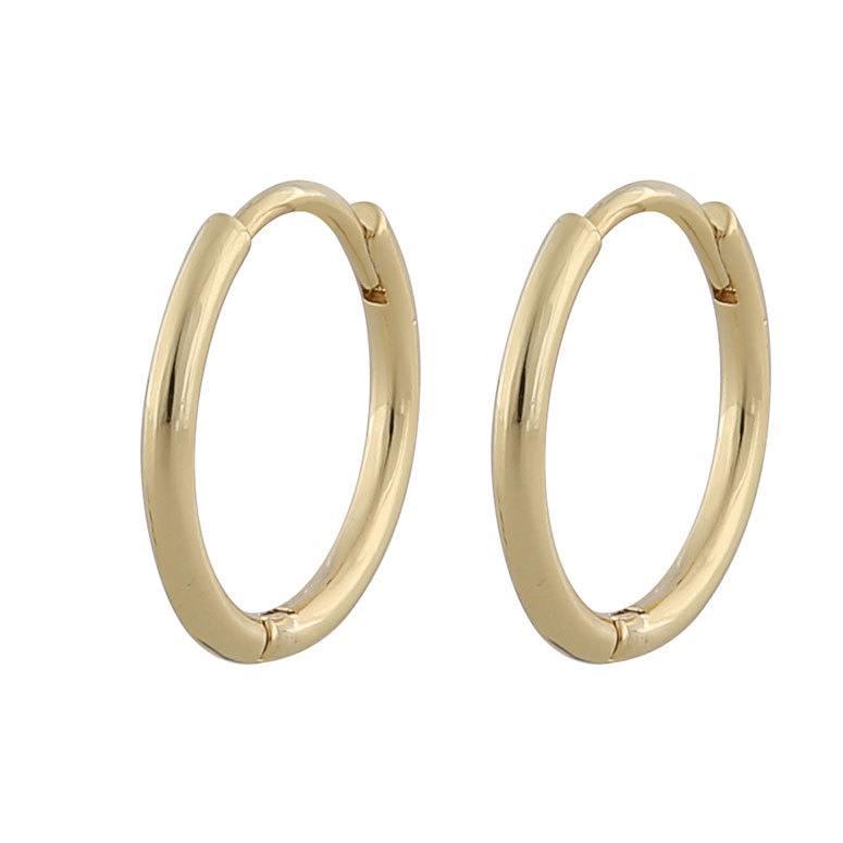 Snö Of Sweden Amber Thin Ring Earring Plain Gold 18 mm