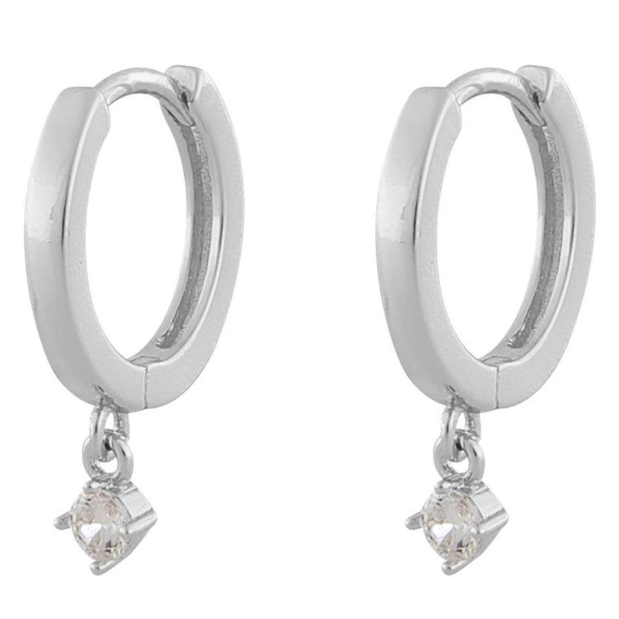 Snö Of Sweden Camille Small Ring Earring Silver / Clear