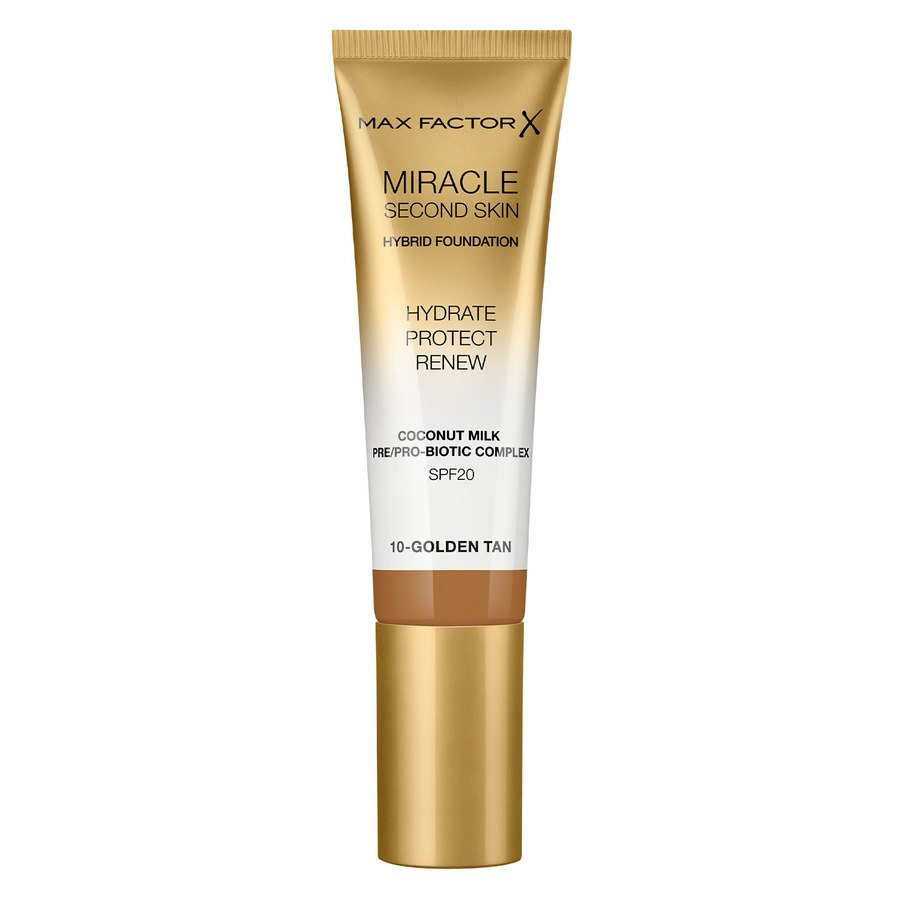 Max Factor Miracle Second Skin Foundation - #010 Golden Tan (33 ml)