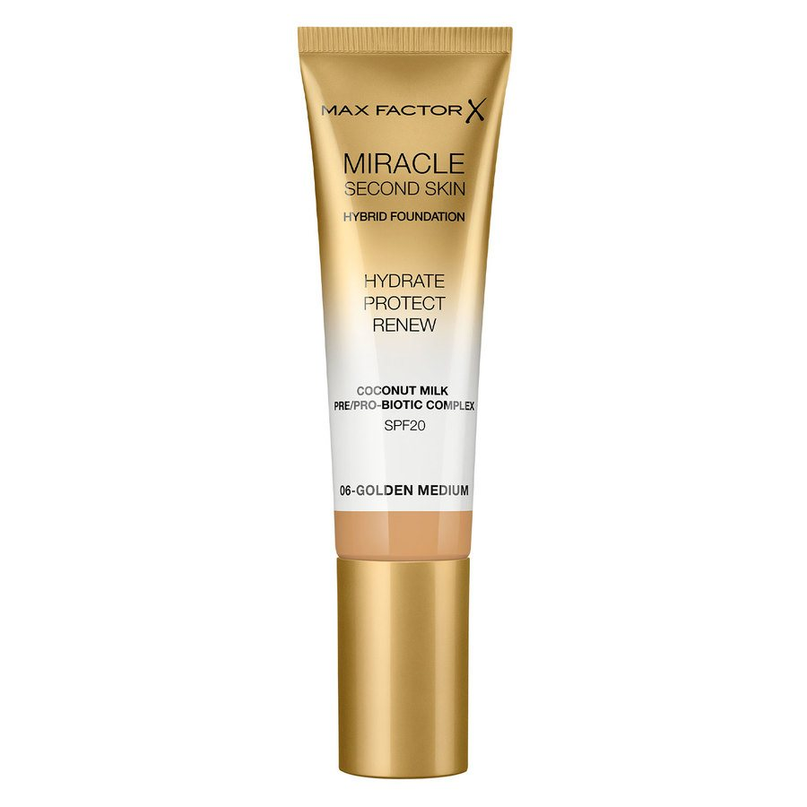Max Factor Miracle Second Skin Foundation - #006 Golden Medium (33 ml)