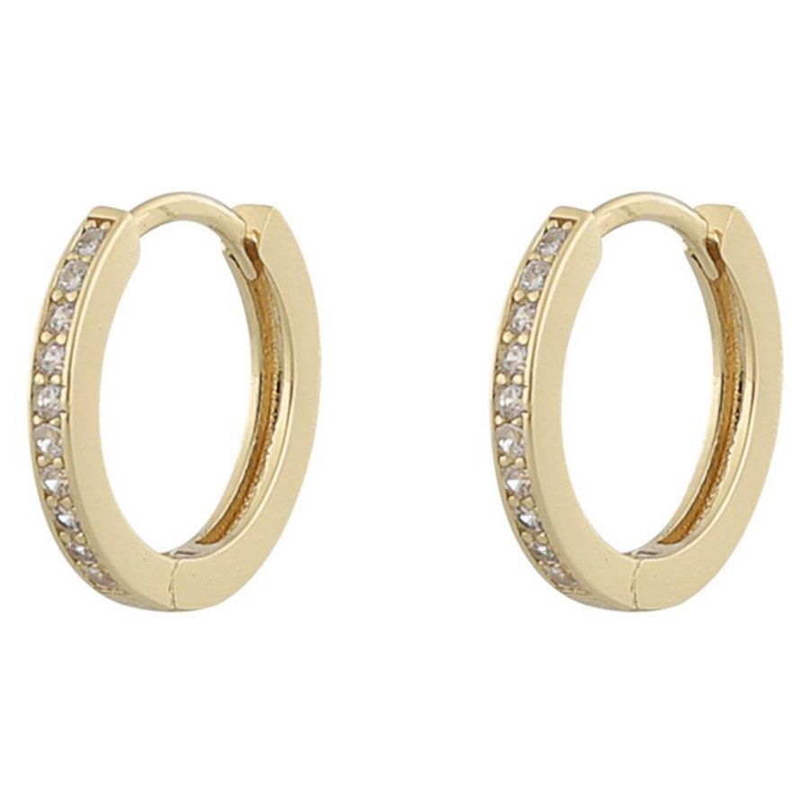 Snö Of Sweden Camille Ring Earring Gold / Clear
