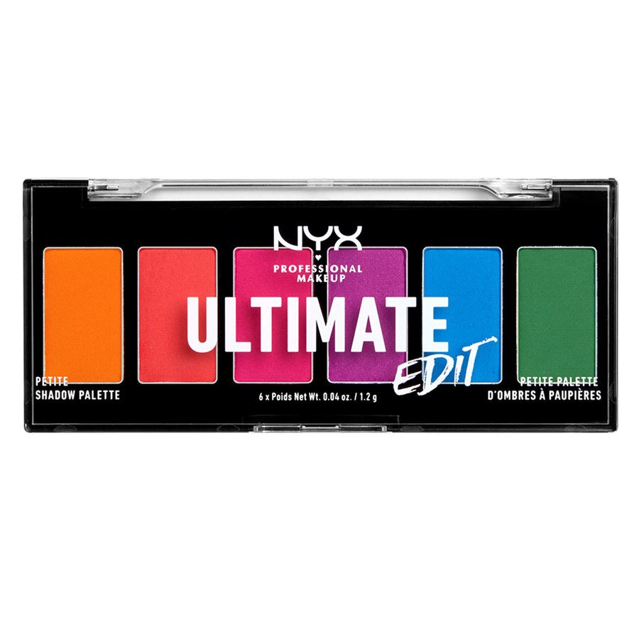 NYX Professional Makeup Ultimate Edit Petite Shadow Palette (7.2 g), 02 Brights