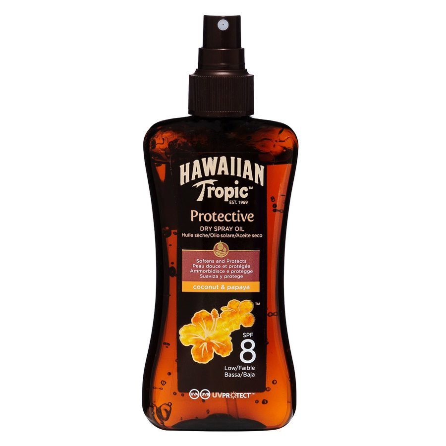 Hawaiian Tropic Protective Dry Oil Spray SPF 8 (200 ml)