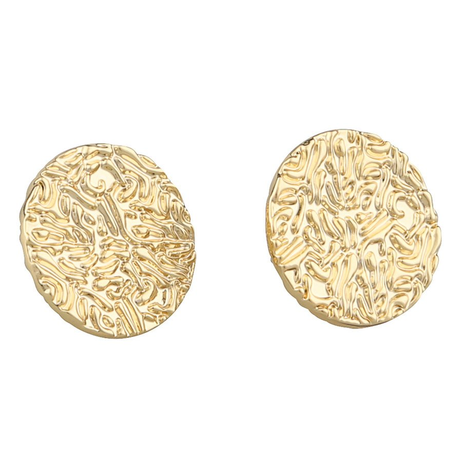 SNÖ of Sweden Penny Small Coin Ear Plain Gold